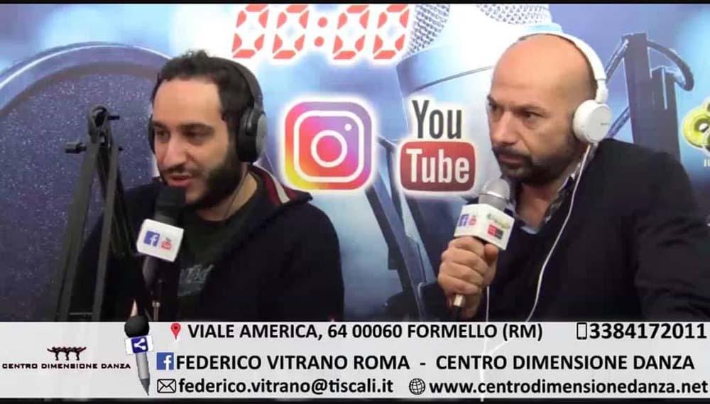 2019 - intervista a Federico Vitrano su Radio Radio Roma Capitale in occasione del Ventennale del Centro Dimensione Danza