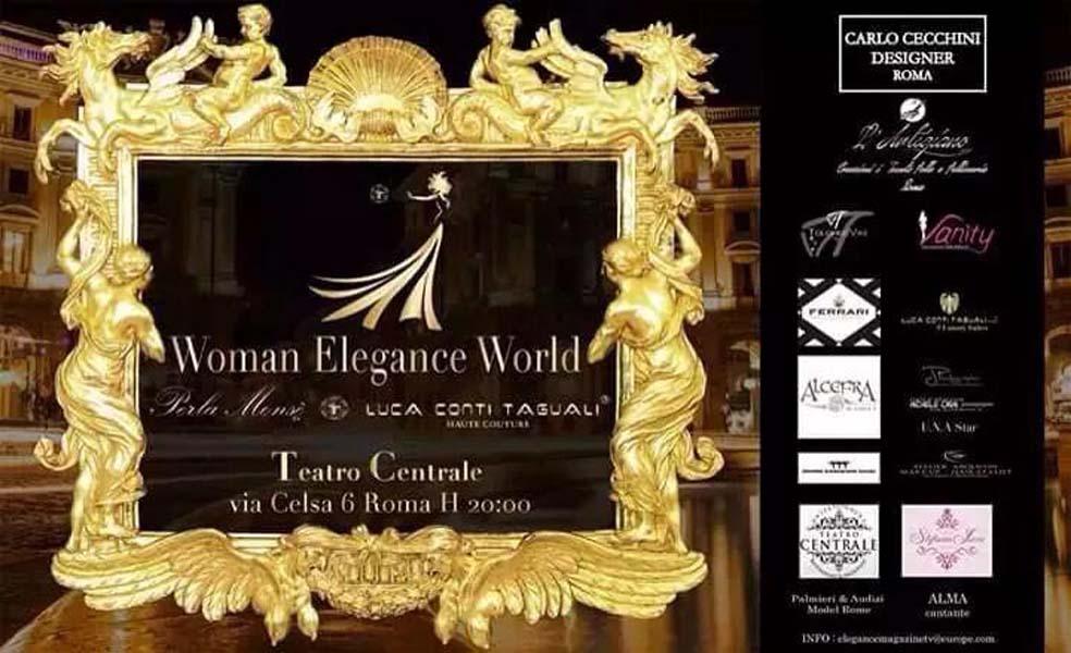 2015 - Partecipazione delle allieve al WOMAN ELEGANCE WORLD Teatro Centrale Roma